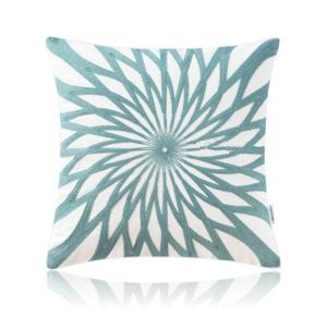 Nordic Modern Stereo Embroidery Equinox Flower Pattern Water Blue Pillow Cover Sofa Office Bedroom Pillow Cover