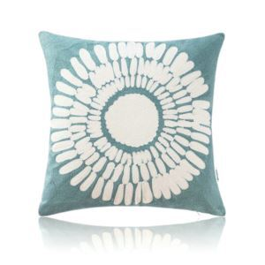 Nordic Modern Stereo Embroidery Sunflower Pattern Water Blue Pillow Cover Sofa Office Bedroom Pillow Cover