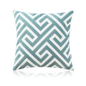 Nordic Modern Stereo Embroidery Maze Pattern Water Blue Pillow Cover Sofa Office Bedroom Pillow Cover