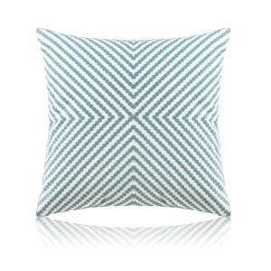 Nordic Modern Stereo Embroidery Thread Pattern Water Blue Pillow Sofa Office Bedroom Pillow