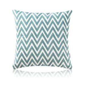 Nordic Modern Stereo Embroidery Wave Pattern Water Blue Pillow Cover Sofa Office Bedroom Pillow Cover
