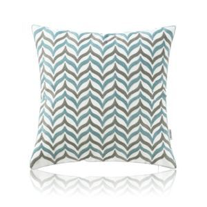 Nordic Modern Stereo Embroidery Two-Color Wave Pattern Water Blue Pillow Sofa Office Bedroom Pillow