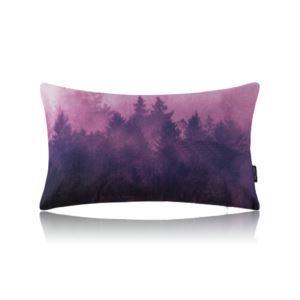 Modern Simple Misty Forest Purple Cotton Linen Lumbar Pillow Sofa Pillow Office Pillow