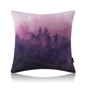 Modern Simple Misty Forest Purple Cotton Linen Lumbar Pillow Sofa Pillow Office Pillow