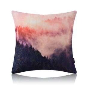 Modern Simple Misty Forest Blue Cotton Linen Pillow Cover Sofa Pillow Cover Office Pillow Cover