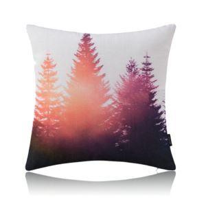 Modern Simple Misty Forest Blue Cotton Linen Pillow Sofa Pillow Office Pillow