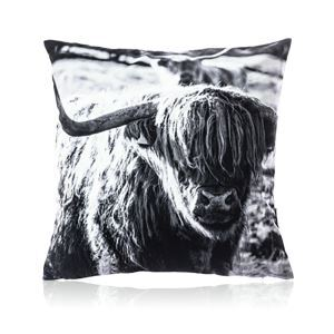 Nordic Modern Velvet Black And White Yak Pattern Pillow Cover Sofa Cushions Cover