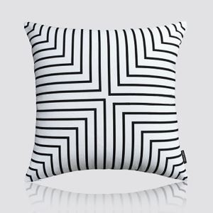 Nordic Modern Super Soft Velvet Stripe Black And White Pattern Pillow Cover Sofa Cushions Cover