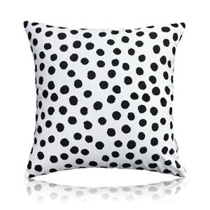 Nordic Modern Super Soft Velvet Black And White Dot Pattern Pillow Cover Sofa Cushions Cover
