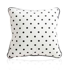 Nordic Modern Velvet Super Soft Creative Cartoon Black And White Dot Pattern Pillow Cover Sofa Cushions Cover