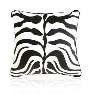 Nordic Modern Velvet Super Soft Creative Cartoon Black And White Zebra Pattern Pillow Cover Sofa Cushions Cover