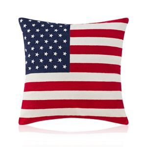 American Modern Flag Pattern Embroidery Pillow Cover Sofa Cushions Cover