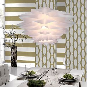 Floral Pendant Light in Petal Featured Shade