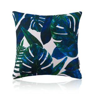 American Pastoral Simple Cotton Linen Plants Watercolor Printing Sofa Pillow Monstera Pattern Cushions