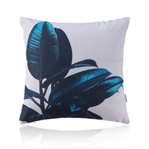 American Pastoral Simple Cotton Linen Plants Watercolor Printing Sofa Pillow Cover Rubber Tree Pattern Cushions Cover