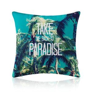 American Pastoral Simple Cotton Linen Plants Watercolor Printing Sofa Pillow Coconut Trees Pattern Cushions