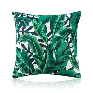 American Pastoral Simple Cotton Linen Plants Watercolor Printing Sofa Pillow Banana Leaves Pattern Cushions