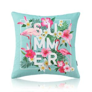 American Pastoral Simple Cotton Linen Tropical Rain Forest Series Printing Sofa Pillow SUMMER Letter Pattern Cushions