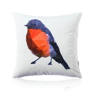 Nordic Fantastic Color Geometric Abstraction Bird Ultra Soft Cotton Sofa Pillow Cover