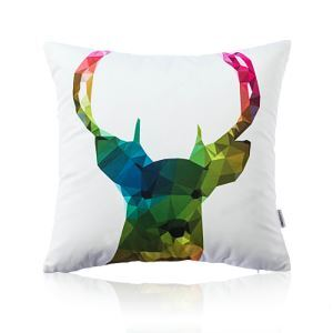 Nordic Fantastic Color Geometric Abstraction Elk Ultra Soft Cotton Sofa Pillow Cover