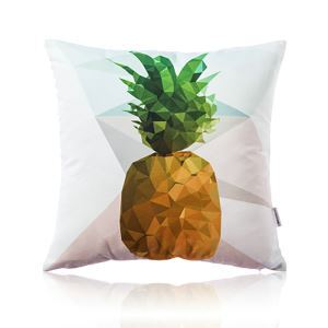 Nordic Fantastic Color Geometric Abstraction Pineapple Ultra Soft Cotton Sofa Pillow Cover