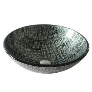 Modern Fashion Round Tempered Glass Basin(Faucet Not Included)