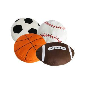 Modern Simple Linen Cotton Soccer Basketball Baseball Rugby Doll Pillow For Spring And Summer