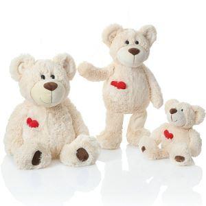 Plush Bear Doll Toys Bear With Love Heart Doll Small