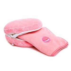 Macaron Candy Color Creative Multi-functional Warm Hands Pillow + Air Conditioning Blanket Two Pieces Set