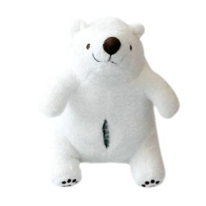 Cute Little White Bear Pillow Doll Toy Paper Towels Sleeve