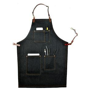 Denim Leather Work Aprons Barista Aprons Painting Apron Cooking Aprons