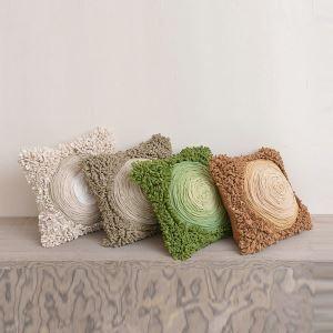 Pure Handmade High-end Custom Art Cloth Craft Cushions Car Office Sofa Pillow 4 Colors