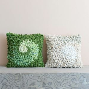 Pure Handmade High-end Custom Art Cloth Craft Cushions Car Office Sofa Pillow Cover 4 Colors