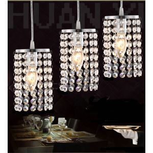 $19.99 Free Shipping Mini Modern Chrome Plating Crystal Pendant Light For Living Room, Bedroom, Dining Room