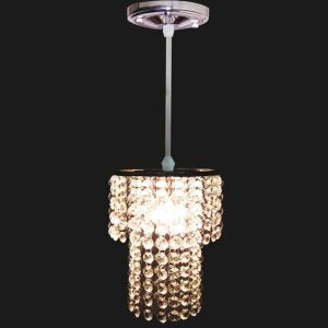 Mini Modern Chrome Plating Crystal Pendant Light Double Layer
