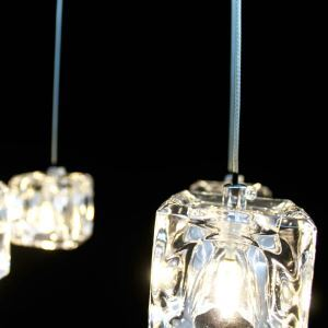 Mini Modern Chrome Plating Crystal Pendant Light