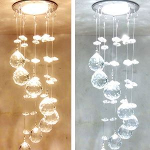 Mini Modern Chrome Plating Crystal Entrance Lights  LED Crystal Spotlights Crystal Ball Flush Mount