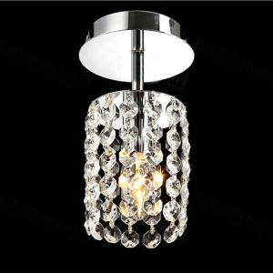 (In Stock)Free Shipping Mini Modern Chrome Plating Crystal Flush Mount K9 Crystal Entrance Lights For Living Room Bedroom Dining Room