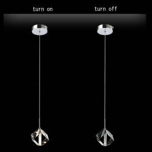 Mini Modern Chrome Plating Crystal Pendant Light Low Voltage K9 Crystal Light