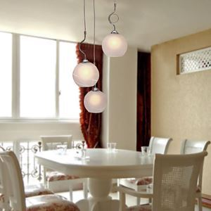 40W Modern Pendant Light with 3 Lights in Globe Shade