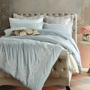 Traditional Simple Italy Mediterranean Theme Bedding Cotton Tribute Satin Four-piece Set Bedding