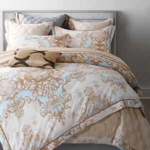 Traditional Simple Advanced Customization Cotton Hollow Embroidery French Romance Four-piece Set Luxury Bedding Simple Beige