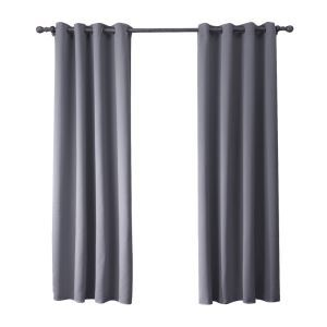 Modern Simple Gray Blackout Curtains Finished Curtains 7 Sizes Available
