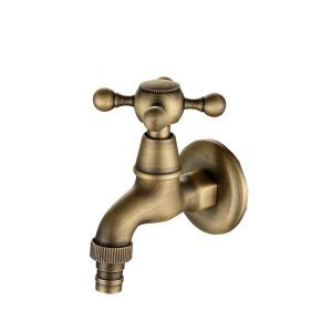 Antique Brushed Finish Bronze-colored Bathroom Faucet