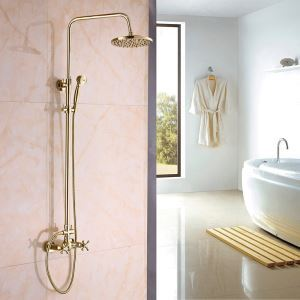 Modern Simple Ti-PVD Golden Bathroom Shower Faucet