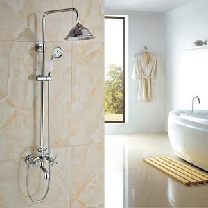 Modern Simple Chrome Plating Bathroom Shower Faucet