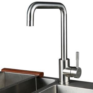 (In Stock)Stainless Steel Modern Kitchen Faucet (Brushed Finish)