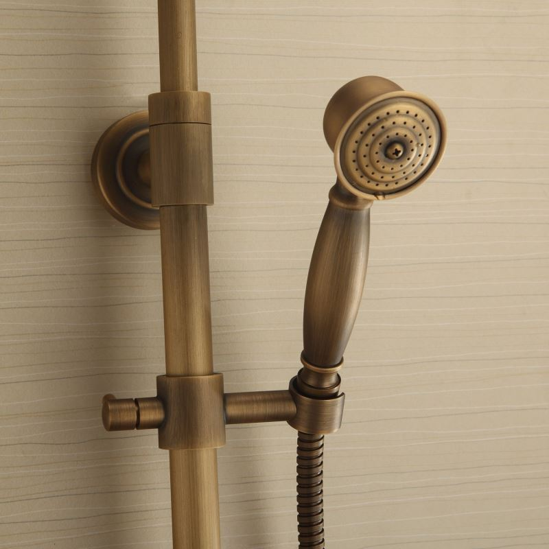 Faucets - Shower Faucets - Antique Brass Tub Shower Faucet with 8 ...