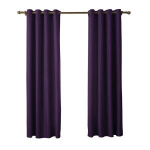 Modern Simple Purple Curtain Solid Color Finished Curtains 7 Sizes Available