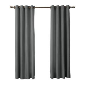 Modern Simple Gray Curtain Solid Color Finished Curtains 7 Sizes Available